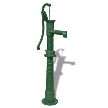 vidaXL Vrtna Pumpa za Vodu s Postoljem od Lijevanog Željeza (41172 + 41173)