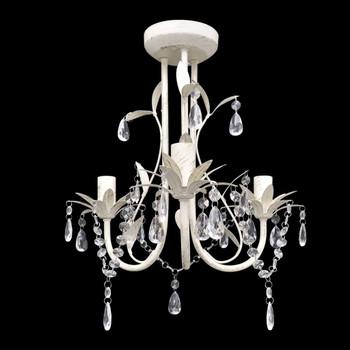 vidaXL Kristalni viseći stropni lusteri 4 kom elegantni bijeli