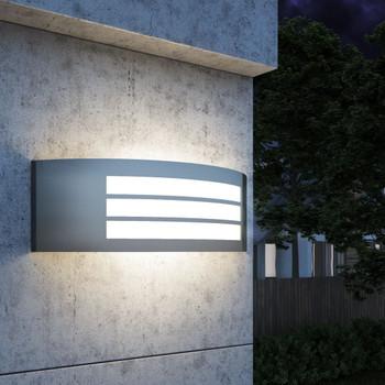 vidaXL Vanjska Zidna Svjetiljka Nehrđajuće Željezo