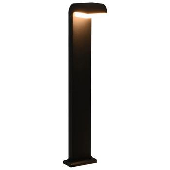 vidaXL Vrtna LED svjetiljka 9 W crna ovalna