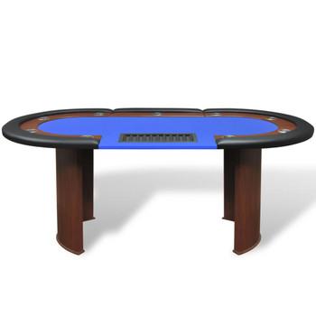 Stol za poker za 10 igrača s prostorom za krupjea i držačem chipova