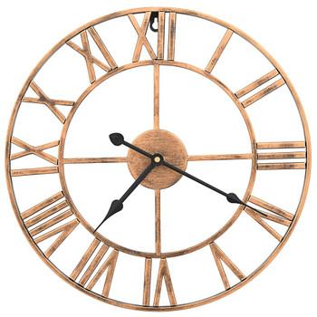 vidaXL Zidni sat metalni 40 cm zlatni