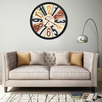 vidaXL Zidni sat metalni 60 cm raznobojni