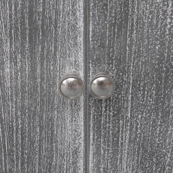 vidaXL Kupaonski ormarić bijelo-sivi 46x24x116 cm od drva paulovnije