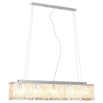 vidaXL Stropna svjetiljka s kristalnim perlama srebrna 104 cm E14