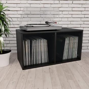 vidaXL Kutija za pohranu vinilnih ploča crna 71x34x36 cm od iverice