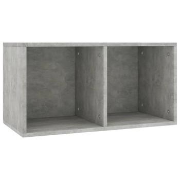 vidaXL Kutija za pohranu vinilnih ploča siva 71x34x36 cm od iverice