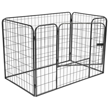 vidaXL Izdržljiva ograda za pse crna 120 x 80 x 70 cm čelična
