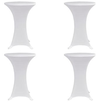 vidaXL Navlaka za stol za stajanje Ø 60 cm bijela rastezljiva 4 kom