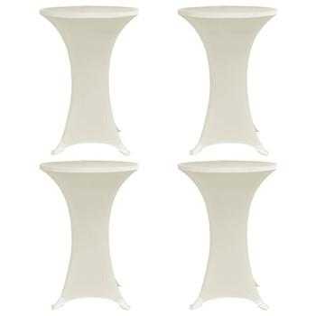 vidaXL Navlaka za stol za stajanje Ø 60 cm krem rastezljiva 4 kom