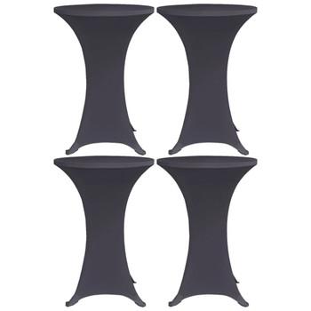 vidaXL Rastezljivi stolnjak 4 kom 80 cm antracit