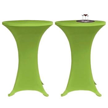 vidaXL Rastezljivi stolnjak 4 kom 60 cm zeleni