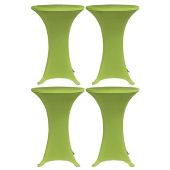 vidaXL Rastezljivi stolnjak 4 kom 70 cm zeleni