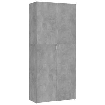 vidaXL Ormarić za pohranu od iverice 80x35,5x180 cm siva boja betona