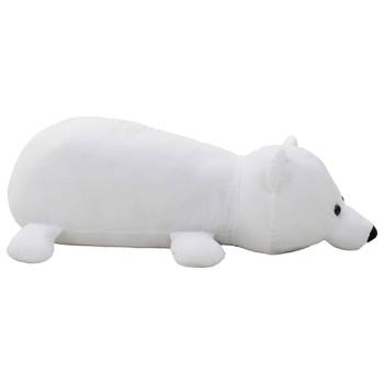 vidaXL Mekani plišani polarni medvjed bijeli