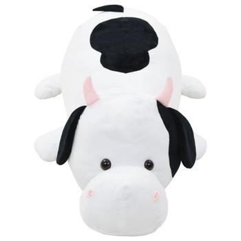 vidaXL Mekana plišana krava crno-bijela