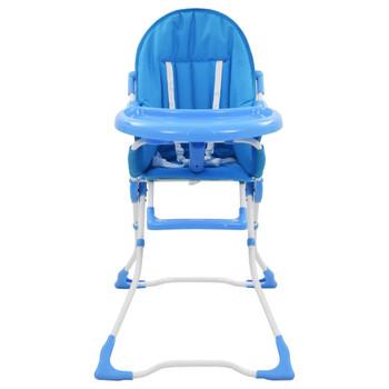 vidaXL Visoka hranilica za bebe plavo-bijela
