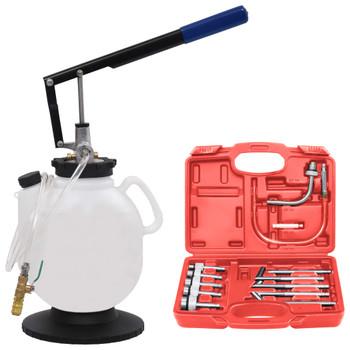 vidaXL Ručni automatski punjač tekućine za prijenos i set alata 7,5 L