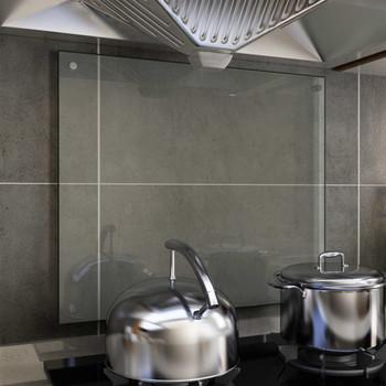 vidaXL Kuhinjska zaštita od prskanja prozirna 70x60 cm kaljeno staklo