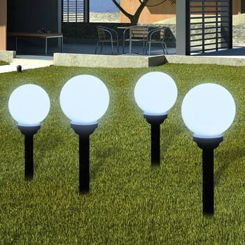 vidaXL Vrtne podne svjetiljke sa šiljkom za tlo 8 kom LED 15 cm