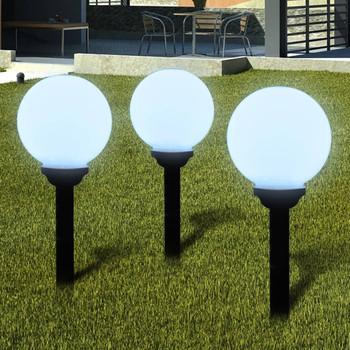 vidaXL Vrtne podne svjetiljke sa šiljkom za tlo 6 kom LED 20 cm
