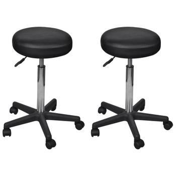 vidaXL Uredski stolci od umjetne kože 2 kom crni 35,5 x 98 cm