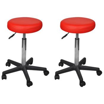 vidaXL Uredski stolci od umjetne kože 2 kom crveni 35,5 x 98 cm