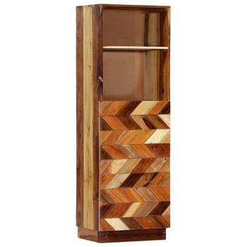 vidaXL Visoka komoda od masivnog obnovljenog drva 40 x 32 x 122 cm