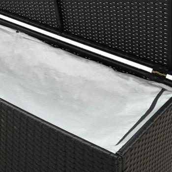 vidaXL Vrtna kutija za pohranu od poliratana 200 x 50 x 60 cm crna
