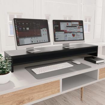 vidaXL Stalak za monitor crni 100 x 24 x 13 cm od iverice