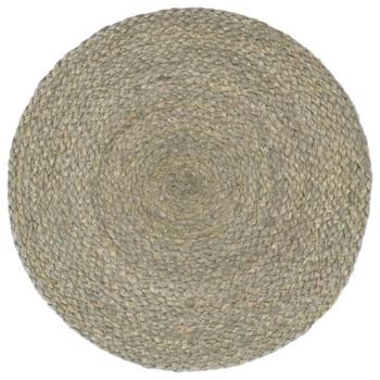 vidaXL Podmetači 6 kom obični/sivi 38 cm okrugli od jute