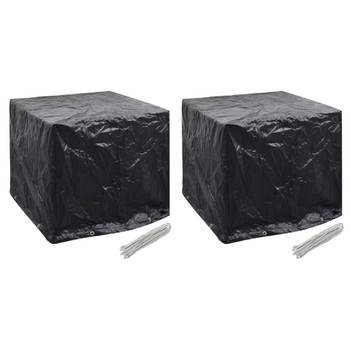 vidaXL Navlake za vrtni spremnik za vodu 2 kom 8 ušica 116x100x120 cm