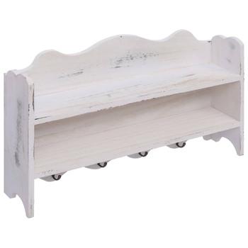 vidaXL Zidna vješalica za kapute bijela 50 x 10 x 30 cm drvena