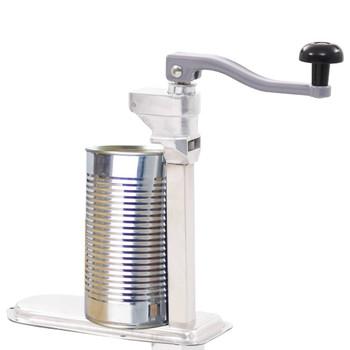 vidaXL Otvarač za limenke srebrni 70 cm aluminij i nehrđajući čelik