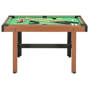 vidaXL Biljarski stol 122 x 61 x 76 cm smeđi