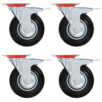 vidaXL Okretni kotačići s dvostrukim kočnicama 4 kom 125 mm