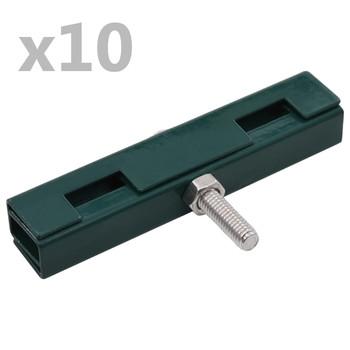 vidaXL Spojnik za vrtne prostirače u obliku slova U 10 setova zeleni