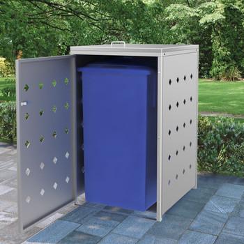 vidaXL Spremište za jednu kantu za smeće 240 L od nehrđajućeg čelika