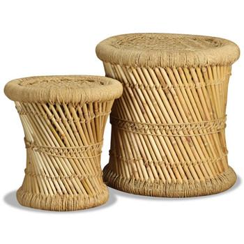 vidaXL Stolci od bambusa i jute 2 kom