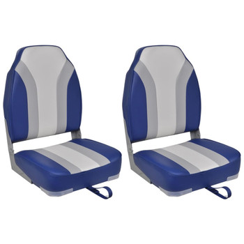 vidaXL Sklopive brodske stolice s visokim naslonom 2 kom