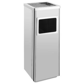 vidaXL Kanta za smeće s pepeljarom 36 L od nehrđajućeg čelika