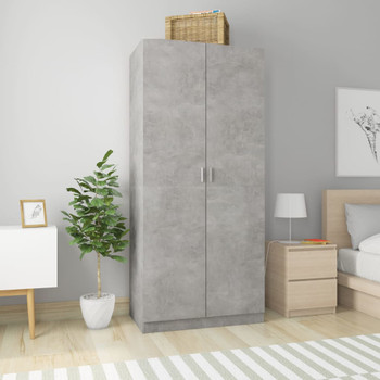 vidaXL Ormar siva boja betona 90 x 52 x 200 cm od iverice