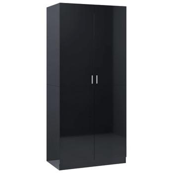 vidaXL Ormar visoki sjaj crni 90 x 50 x 200 cm od iverice