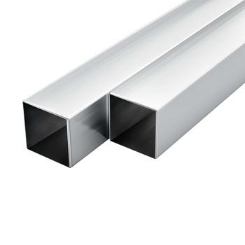 vidaXL Aluminijske cijevi 6 kom četvrtaste šuplje 1 m 30 x 30 x 2 mm