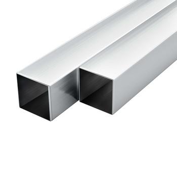 vidaXL Aluminijske cijevi 6 kom četvrtaste šuplje 2 m 30 x 30 x 2 mm