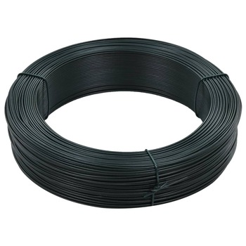 vidaXL Žica za vezanje ograde 250 m 1,4/2 mm čelična crno-zelena