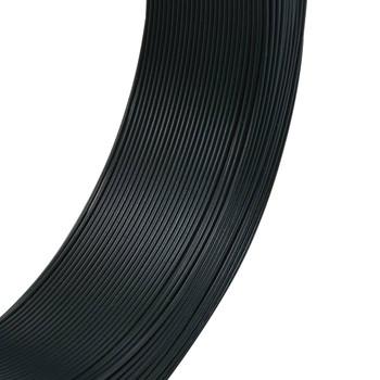vidaXL Žica za vezanje ograde 250 m 1,6/2,5 mm čelična crno-zelena