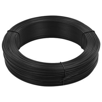 vidaXL Žica za vezanje ograde 250 m 2,3/3,8 mm čelična antracit