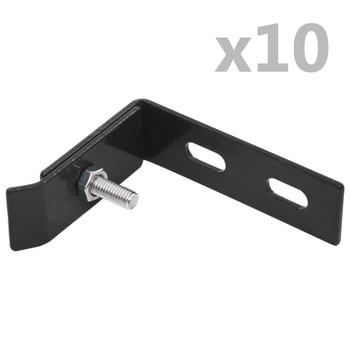 vidaXL Zidni kutni pričvršćivač 10 setova antracit