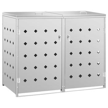 vidaXL Spremište za dvije kante za smeće 240 L od nehrđajućeg čelika